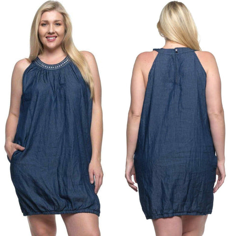Gossip Gal Denim Dress
