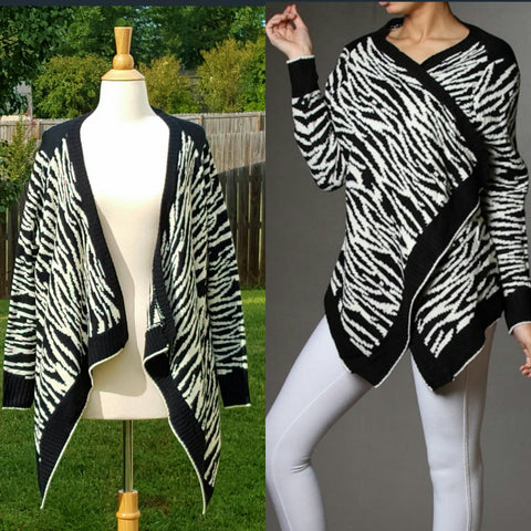 Zebra Open Knit Cardigan