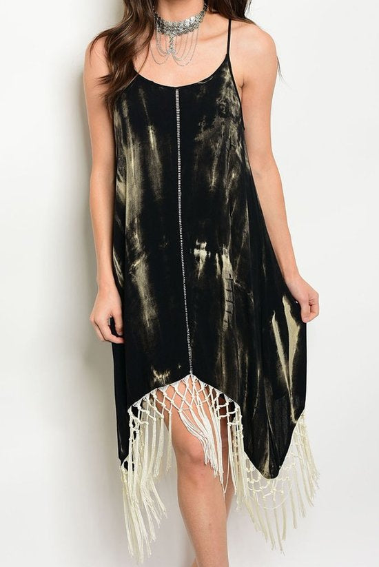 Tye-Dye Fringe Dress
