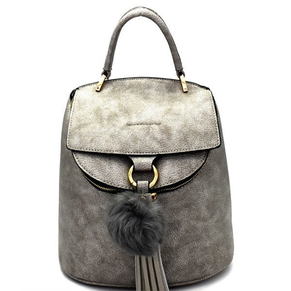 Faux-Leather Handbag