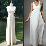 Cutout V-Neck Maxi Dress