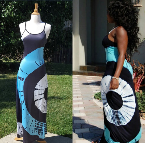 Tye-dye Sleeveless Dress