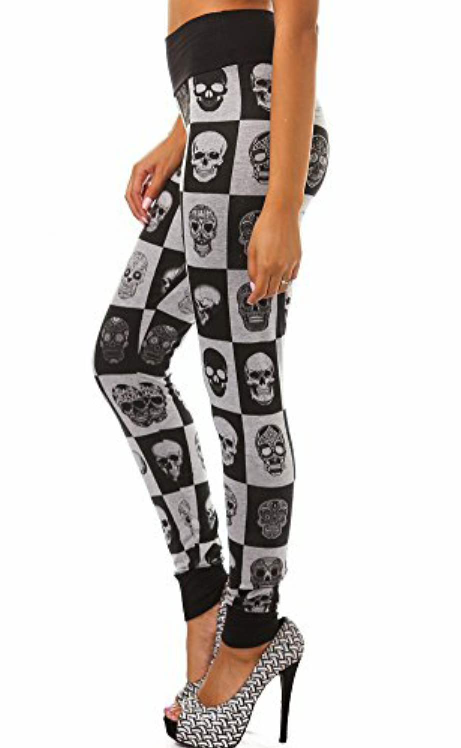 Skull Checkered Leggings