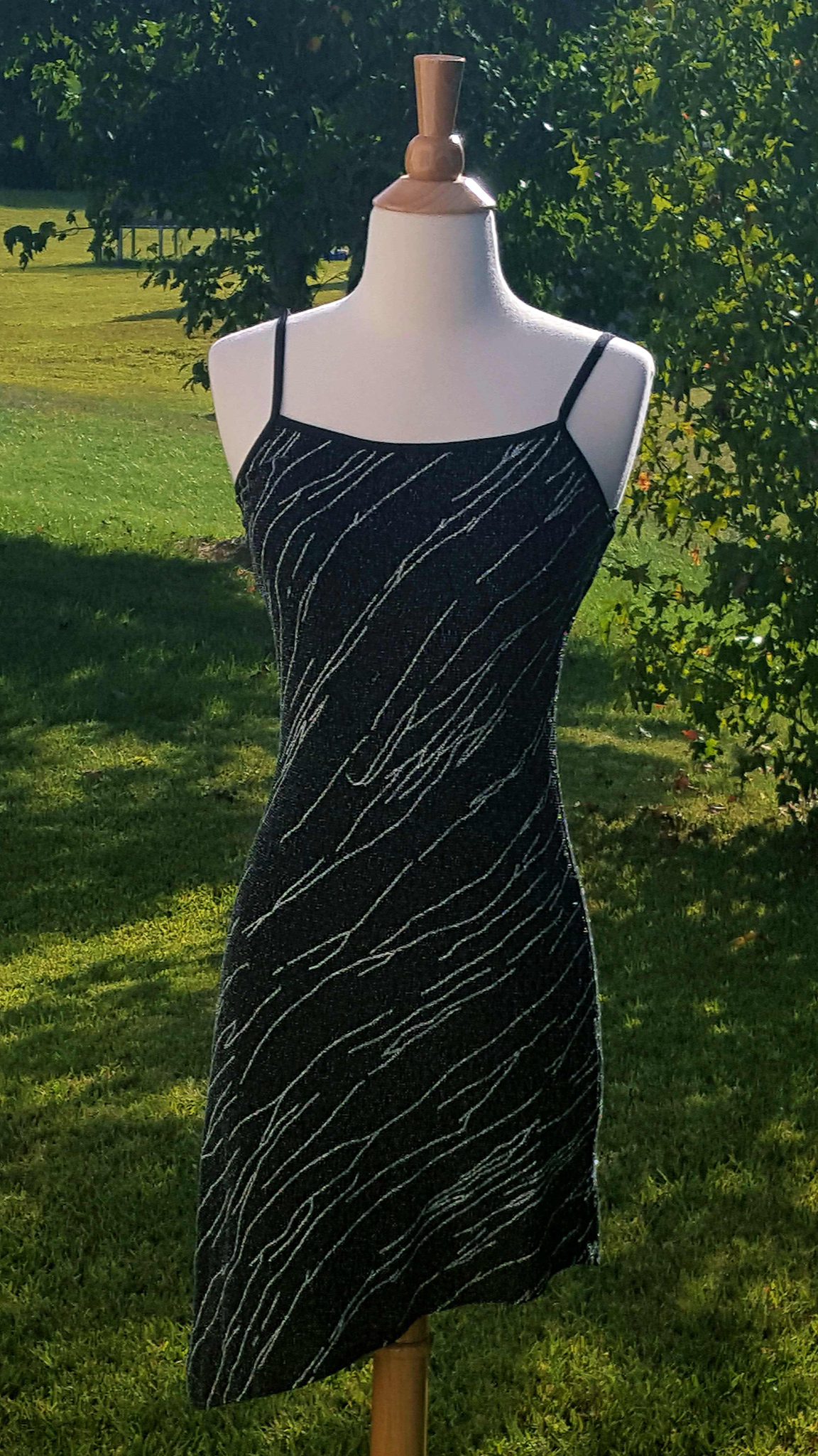 Silver & Black Sequin Dress