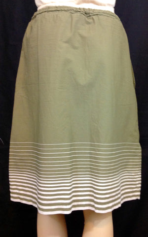 Olive Green & Tan Eddie Bauer Skirt