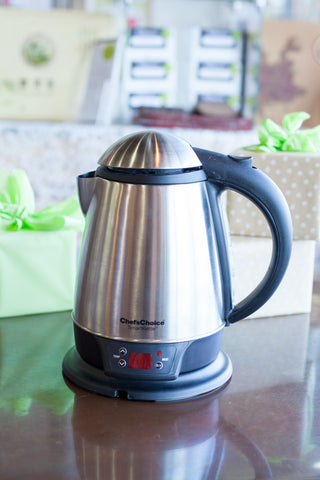 Chef's Choice electric tea kettle | How to steep tea