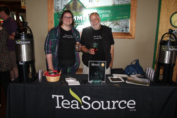 Eden Prairie manager, Georgia, and TeaSource owner, Bill Waddington, at the Make It So release party