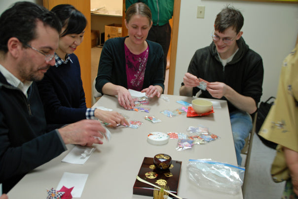 Then Mrs. Otsuka passed out wondrous origami figures that she had made for all of us.  It was like opening Christmas presents.