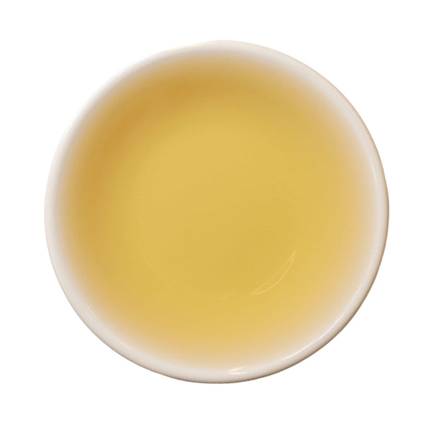 Steeped cup Machu Peachu white tea