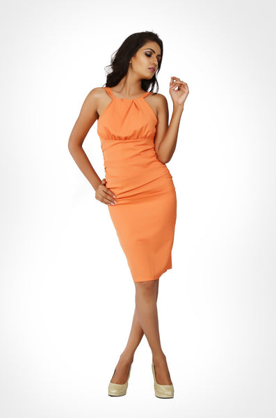 Fresh off the runway orange dress