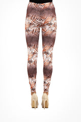 Brown Leafy Hues Leggings