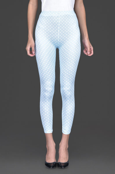 Summer Blue Polka Legging