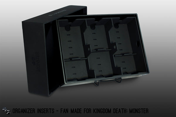 fan-made kingdom death: monster 1.5 expansion box organizer