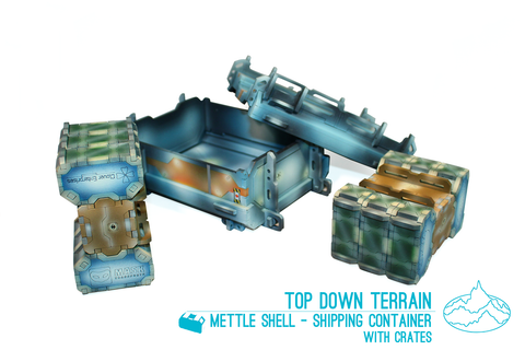 Mettle Shell - Shipping Container with Crates
