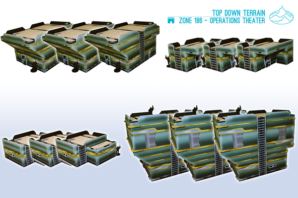 Zone 186 Operations Theater Table Set Top Down Terrain