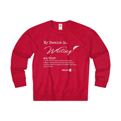 Adult Unisex French Terry Crew - my passion is writing Sweatshirt - WritersLife.org