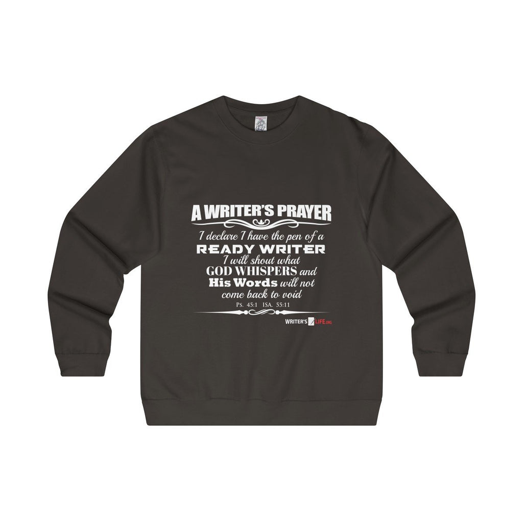 Copy of Men's Midweight Crewneck Sweatshirt - A writers prayer Sweatshirt - WritersLife.org