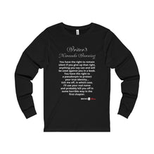 Unisex Jersey Long Sleeve Tee - Myranda Warning