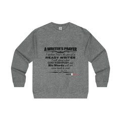 Men's Midweight Crewneck Sweatshirt - A writers prayer Sweatshirt - WritersLife.org