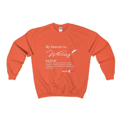 Heavy Blend™ Adult Crewneck Sweatshirt - my passion is writing Sweatshirt - WritersLife.org