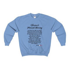 Heavy Blend™ Adult Crewneck Sweatshirt -  - Myranda Warning Sweatshirt - WritersLife.org