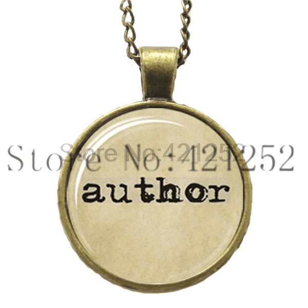 Author-Necklace Pendant Necklaces - WritersLife.org