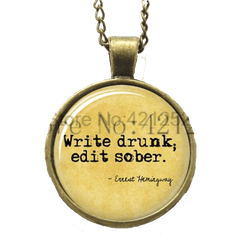 Write Drunk;Edit Sober-Necklace Pendant Necklaces - WritersLife.org