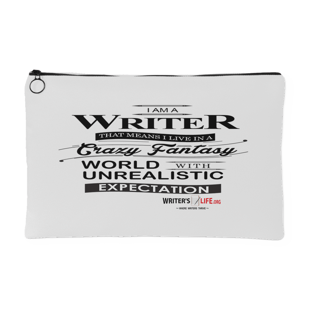 I Am A Writer, Accessory Pouch Accessory Pouches - WritersLife.org