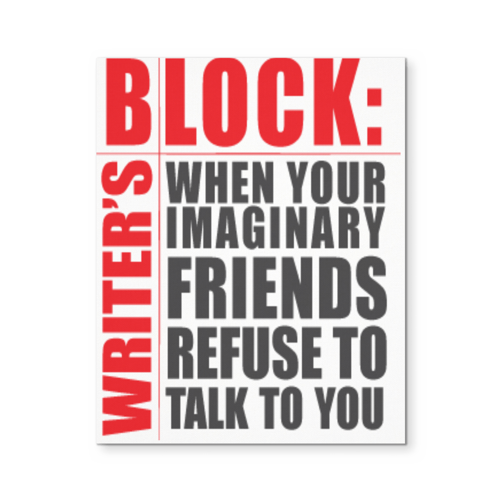Writers Block, Canvas Wall Art Canvas Wall Art - WritersLife.org