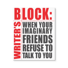 Writers Block, Canvas Wall Art