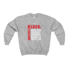 Heavy Blend™ Adult Crewneck Sweatshirt - Writers Blocks Sweatshirt - WritersLife.org