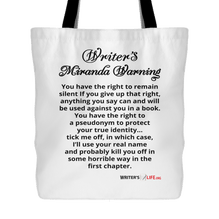 Tote Bag - Writer's Miranda Warning
