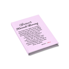 Journal - Ruled Line - Writer's Miranda Warning Paper products - WritersLife.org