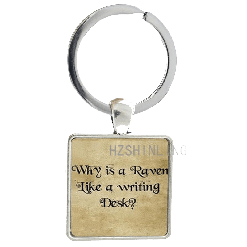 Why Is A Raven Like A Writing Desk - Key Ring Key Chains - WritersLife.org