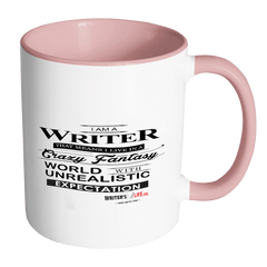 Accent Coffee Mug - I Am A Writer! Drinkware - WritersLife.org
