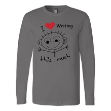 I Love Writing This Much - Canvas Long Sleeve Shirt