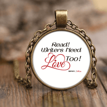 Read! Writers Need Love Too - Necklace & Pendant Set