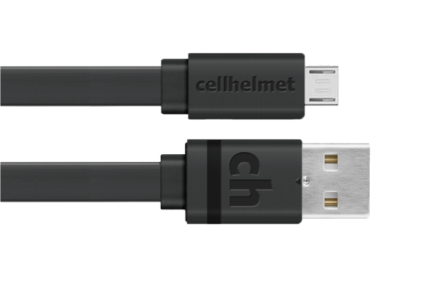 Micro USB Charge/Sync Cable - 3ft Flat - cellhelmet