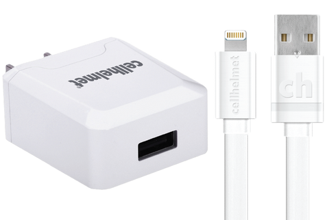 White Wholesale Apple Certified Wall Charger by cellhelmet