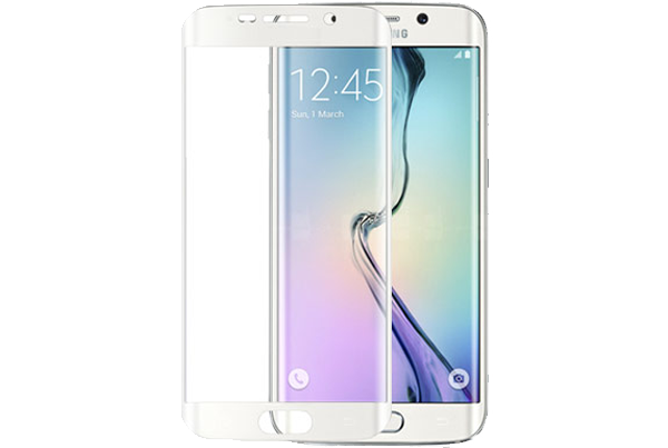 Samsung Galaxy S6 Edge Tempered Glass - White
