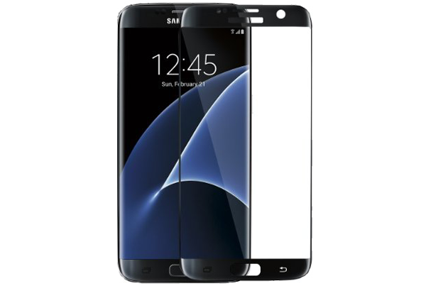 Samsung Galaxy S7 3D Curved Tempered Glass (black) - cellhelmet