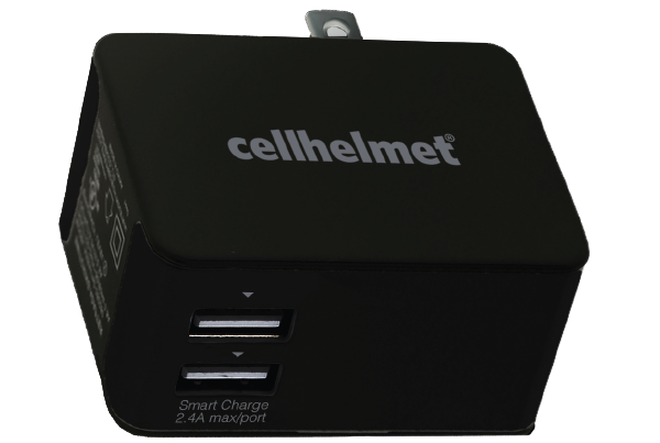 2.5A Smart Wall Charger - Dual Port/Black - cellhelmet