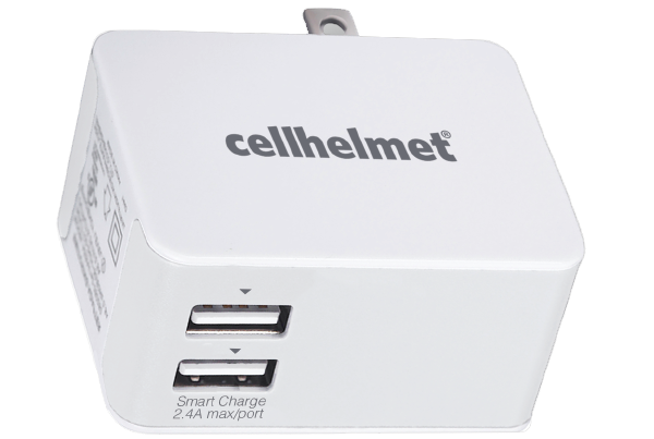 2.5A Smart Wall Charger - Dual Port/White - cellhelmet
