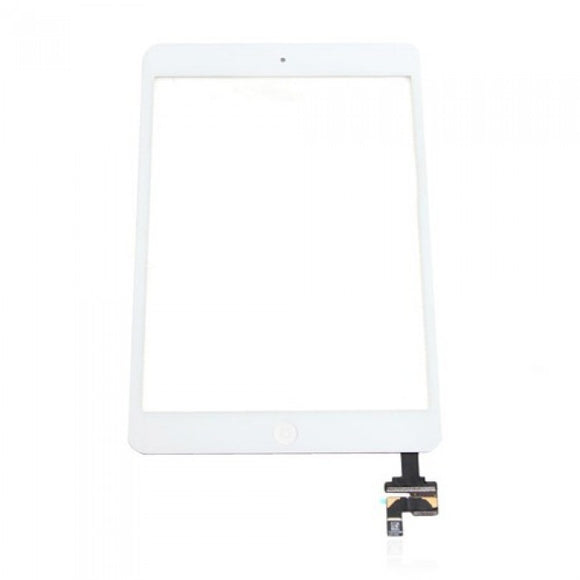 Apple iPad Mini Replacement Glass Digitizer with IC chip and Home button assembly - White