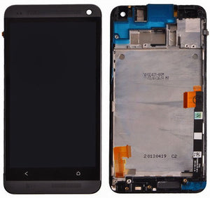 HTC One M7 LCD Touch Digitizer Screen Assembly replacment with frame BLACK
