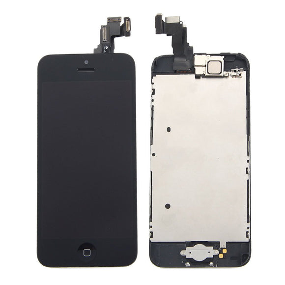 Apple iPhone 5C LCD replacement camera and home button assembly - Black