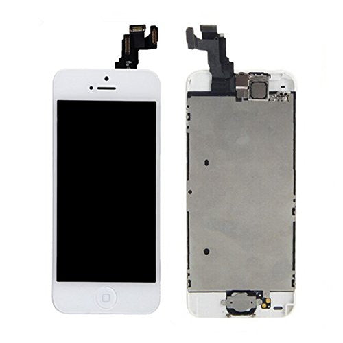 Apple iPhone 5C LCD replacement with camera and home button assembly - White