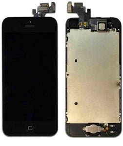 Apple iPhone 5G LCD replacement camera and home button assembly - Black