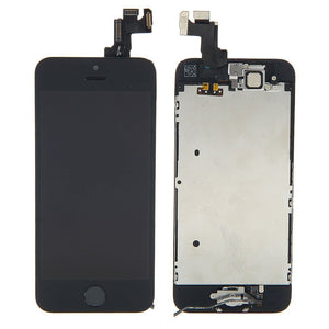 Apple iPhone 5S LCD replacement camera and home button assembly - Black