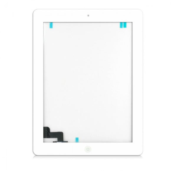 Apple iPad 3 replacement glass digitizer replacment with home button and camera holder- White